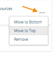 second move position selector for playlist content in mediaspace
