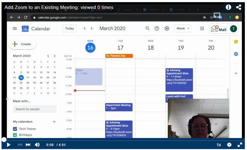 Add Zoom to an Existing Meeting