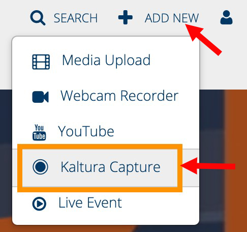 Kaltura Capture link