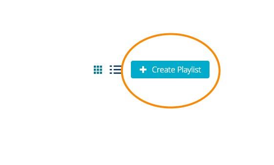 create a playlist button in Mediaspace