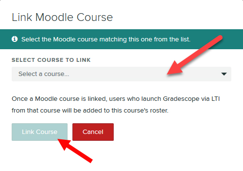 Select course to link