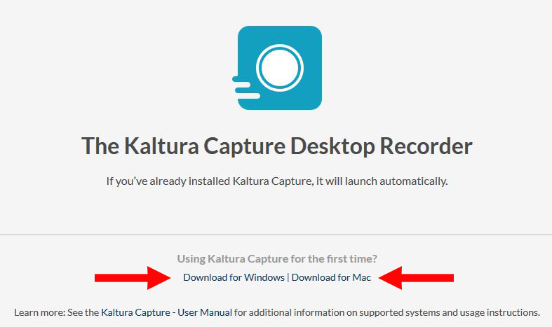 Download Kaltura Capture plugin