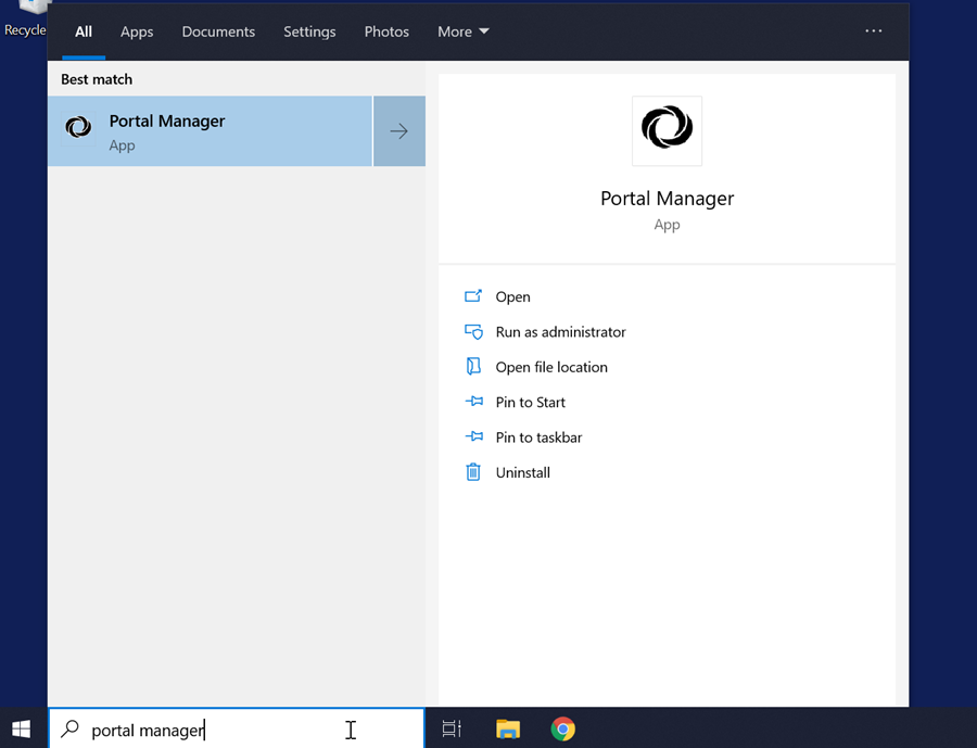 Type Portal Manager