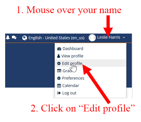 Edit Moodle Profile